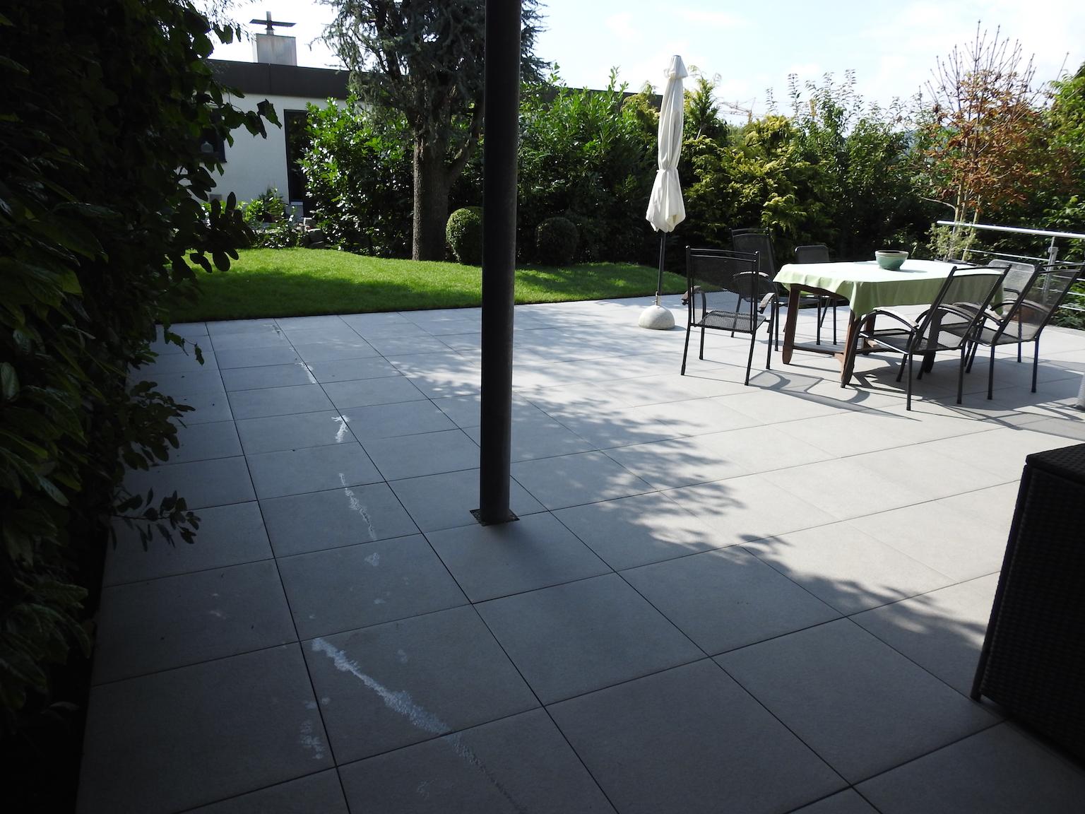 Parkplätze Terrassen Wege BODENSEE GALABAU - Feinsteinzeug für terrasse geeignet